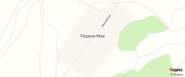 Лесная улица на карте поселка Первое Маи с номерами домов