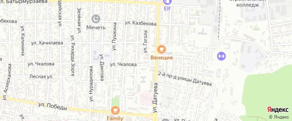 Переулок Чкалова на карте Хасавюрта с номерами домов