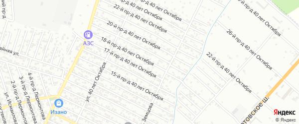 40 лет Октября улица 18-й проезд на карте Хасавюрта с номерами домов