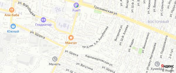 Щорса улица 3-й проезд на карте Хасавюрта с номерами домов