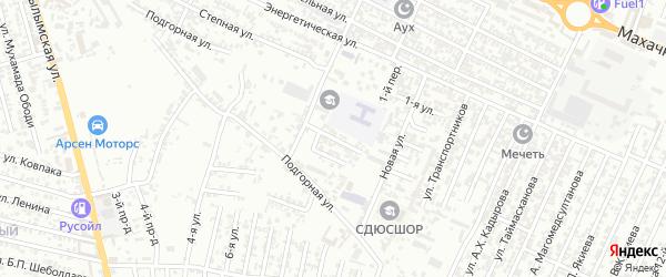 Новая улица 1-й проезд на карте Хасавюрта с номерами домов