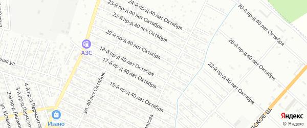 40 лет Октября улица 19-й проезд на карте Хасавюрта с номерами домов