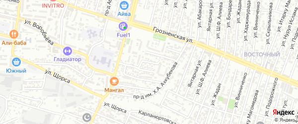 Щорса улица 5-й проезд на карте Хасавюрта с номерами домов