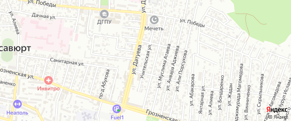 Учительская улица на карте села Садовой с номерами домов