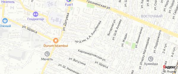 Щорса улица 1-й проезд на карте Хасавюрта с номерами домов
