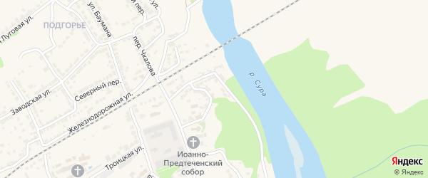 Речной спуск на карте Алатыря с номерами домов