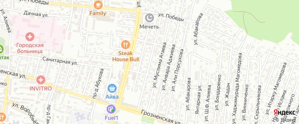 Победы улица 2-й проезд на карте Хасавюрта с номерами домов