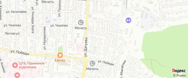Победы улица 1-й проезд на карте Хасавюрта с номерами домов
