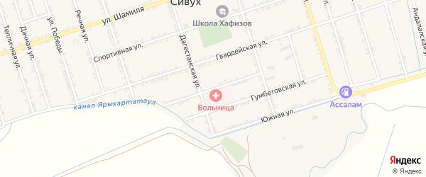 Больничная улица на карте железнодорожной станции Карланюрта с номерами домов