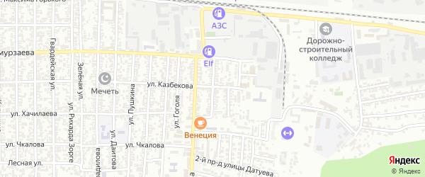 Сельскохозяйственная улица на карте Хасавюрта с номерами домов