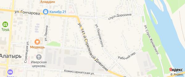 Красный переулок на карте Алатыря с номерами домов