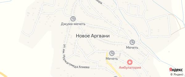 Улица Им Магомеда Халидова на карте села Ново-Аргвани с номерами домов