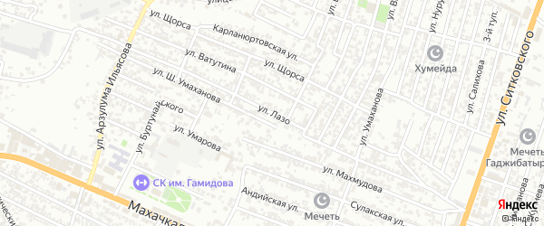 Улица Лазо на карте Хасавюрта с номерами домов