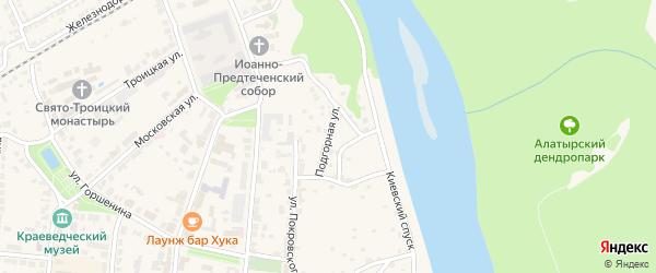 Подгорная улица на карте Алатыря с номерами домов