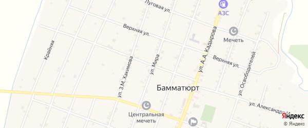 Улица Мира на карте села Бамматюрта с номерами домов
