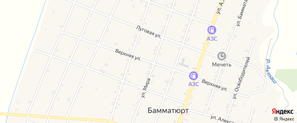 Верхняя улица на карте села Бамматюрта с номерами домов