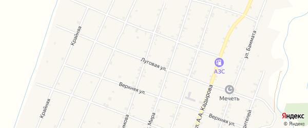 Луговая улица на карте села Садовой с номерами домов