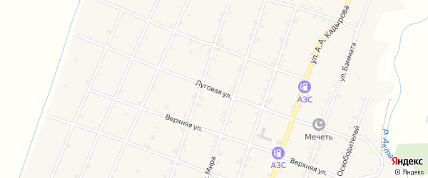 Луговая улица на карте села Бамматюрта с номерами домов