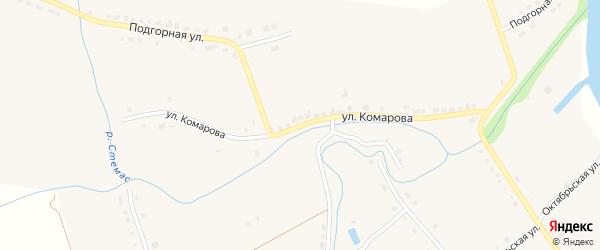 Улица Комарова на карте села Стемасы с номерами домов