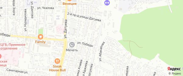 Победы улица 4-й проезд на карте Хасавюрта с номерами домов