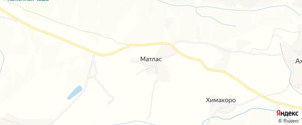 Карта села Матласа в Дагестане с улицами и номерами домов