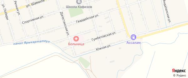 Гумбетовская улица на карте села Сивуха с номерами домов