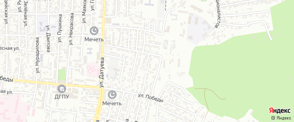 Грозненский 8-й проезд на карте Хасавюрта с номерами домов