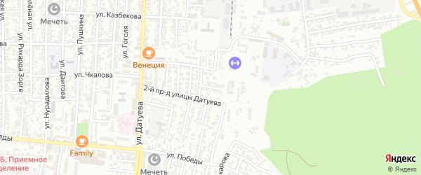 Датуева улица 7-й проезд на карте Хасавюрта с номерами домов
