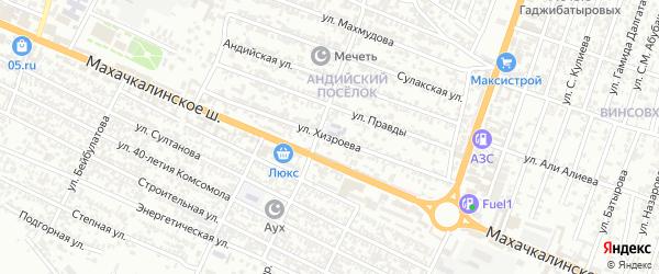 Улица Хизроева на карте Хасавюрта с номерами домов