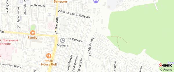 Победы улица 5-й проезд на карте Хасавюрта с номерами домов