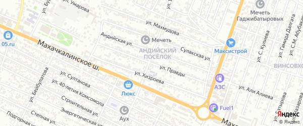 Улица Правды на карте Хасавюрта с номерами домов