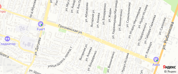 Санитарная улица 2-й проезд на карте Хасавюрта с номерами домов