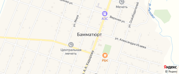 Угловая улица на карте села Бамматюрта с номерами домов