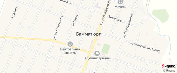 Набережная улица на карте села Бамматюрта с номерами домов