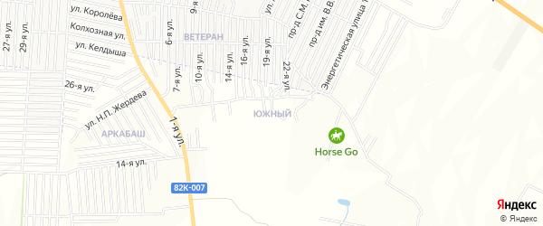 Карта Южного поселка города Хасавюрта в Дагестане с улицами и номерами домов