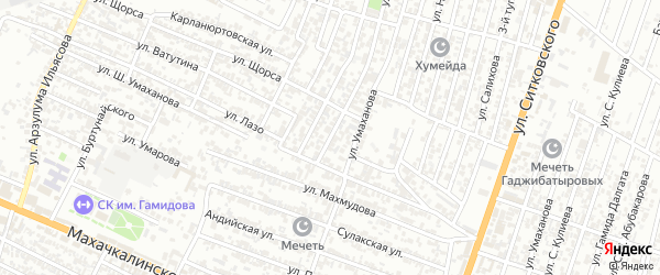 Лазо улица 3-й проезд на карте Хасавюрта с номерами домов