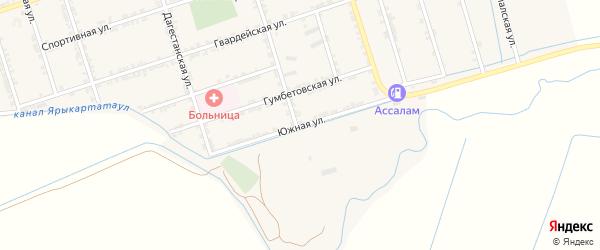 Южная улица на карте села Сивуха с номерами домов