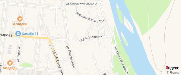Улица Спуск Доронина на карте Алатыря с номерами домов