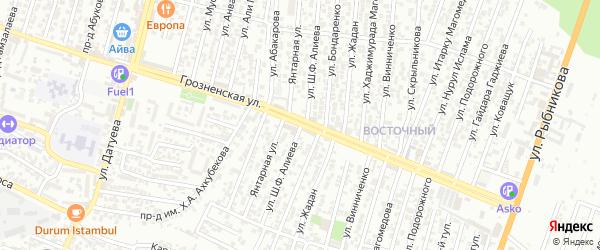 Санитарная улица 3-й проезд на карте Хасавюрта с номерами домов
