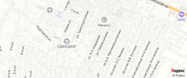 Новая улица 3-й проезд на карте Хасавюрта с номерами домов