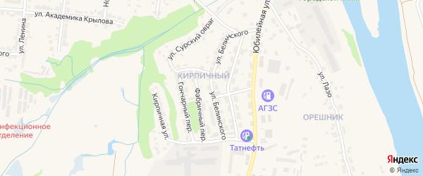 Улица Белинского на карте Алатыря с номерами домов