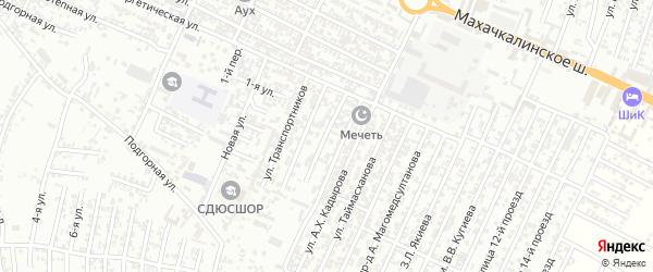 Новая улица 2-й проезд на карте Хасавюрта с номерами домов