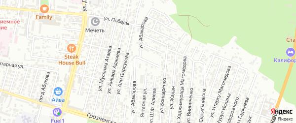 Заречный 2-й проезд на карте Хасавюрта с номерами домов