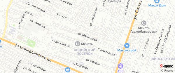 Улица Махмудова на карте Хасавюрта с номерами домов