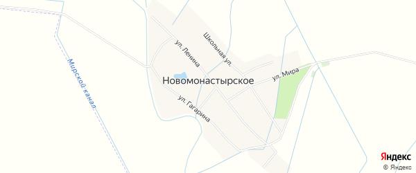 Карта Новомонастырского села в Дагестане с улицами и номерами домов