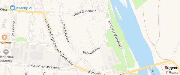 Улица 2-й Сурский косогор на карте Алатыря с номерами домов