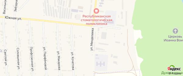Улица Менделеева на карте Алатыря с номерами домов