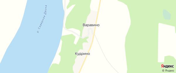 Карта деревни Варавино в Архангельской области с улицами и номерами домов