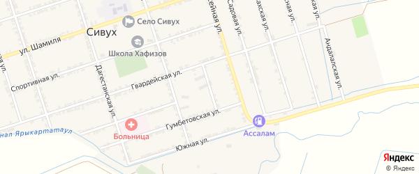 Складской переулок на карте села Сивуха с номерами домов