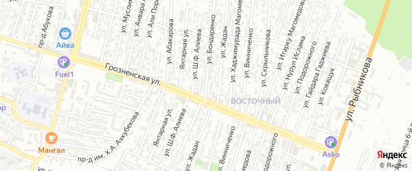 Щорса улица 4-й проезд на карте Хасавюрта с номерами домов
